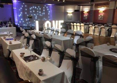 Venue Decoration Liverpool Centre Pieces Chair & Table Covers (12)