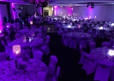 Venue Decoration Liverpool Centre Pieces Chair & Table Covers (2)