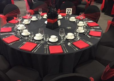 Venue Decoration Liverpool Centre Pieces Chair & Table Covers (6)
